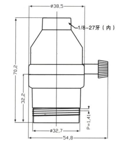 brass lamp holder with switch diagram size