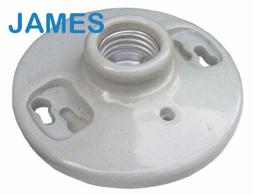 E27 porcelain keyless lamp holder Keyless Screw Terminals white