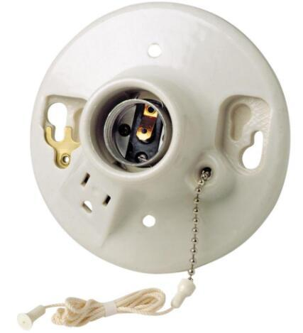 Porcelain LED Incandescent pull chain lamp socket