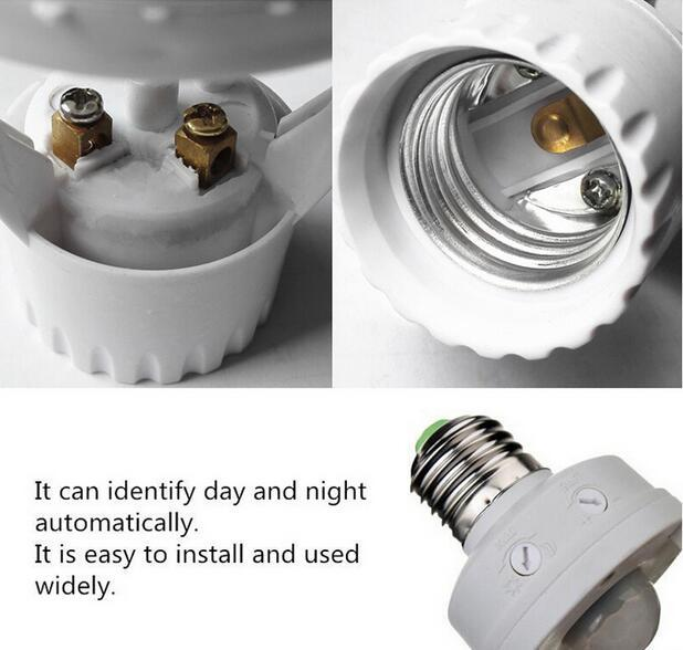 E27 light sensor bulb socket for led bulbs