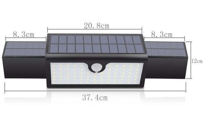 4W white 71 solar led motion sensor light