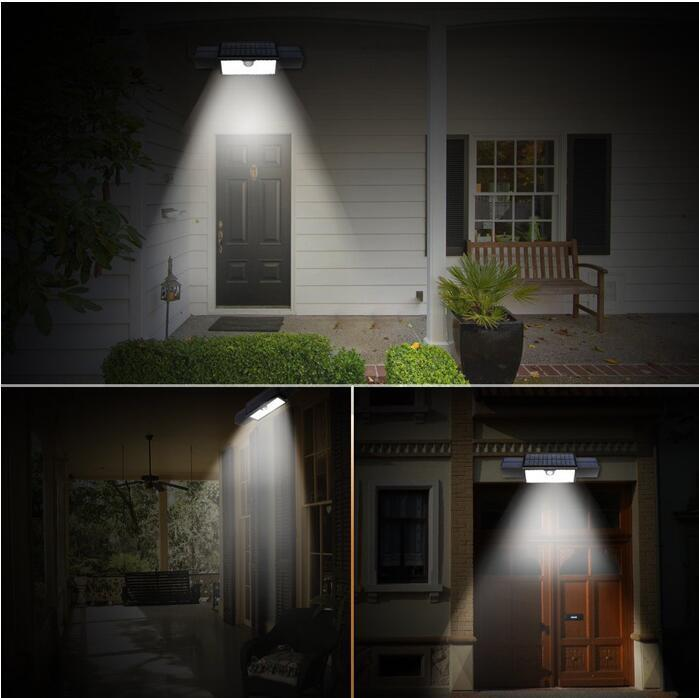 white solar led motion sensor light
