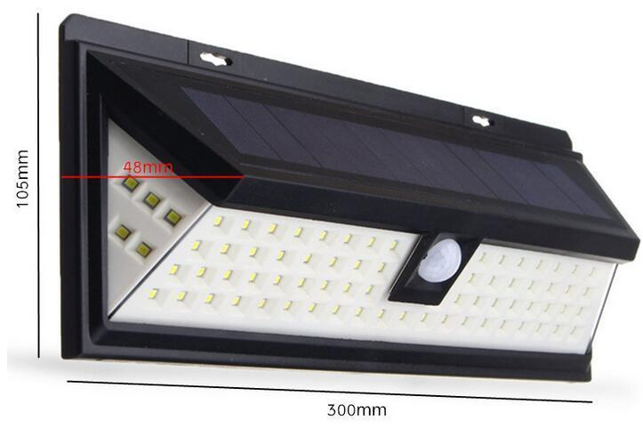 80 LED brightest solar lights Motion Sensor Light size