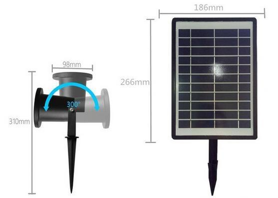 RGB ​best solar landscape lights IP65 solar outdoor landscape lighting
