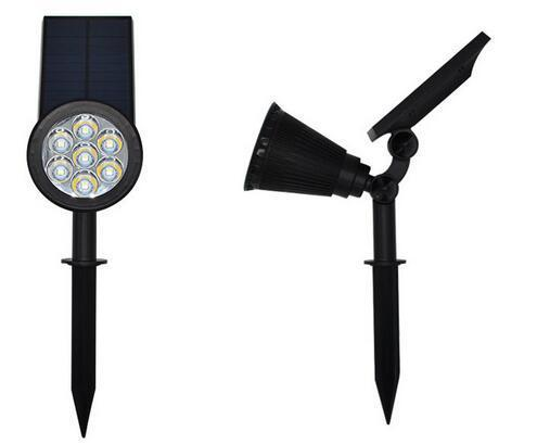 7 LED Spotlight Auto Color-Changing solar light for garden landscape