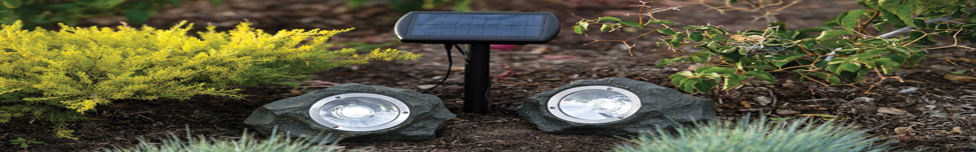 led solar rock lights