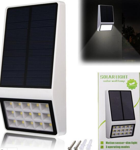 motion sensor dim solar wall lights kit