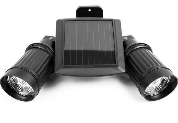 Angle Adjustable Dual Head LED Montion Sensor solar powered spotlights outdoor