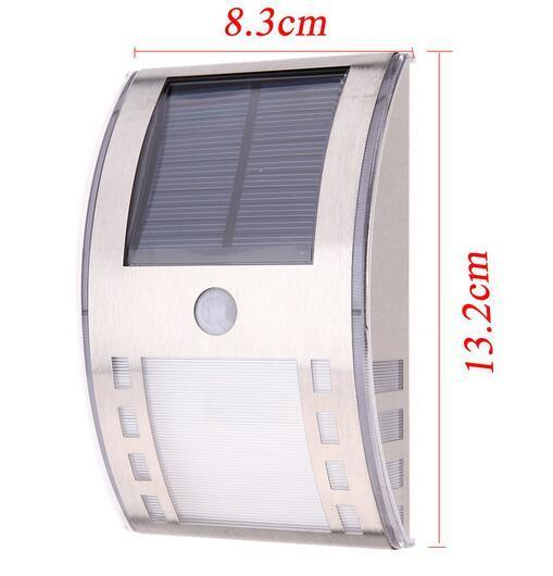 stainless steel solar garden lamps size