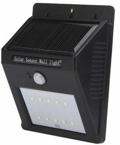 solar led motion sensor light 10 LED wall mounted solar lights
