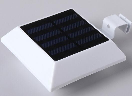 PIR Sensor 6 LED Square Outdoor garden fence solar post lights