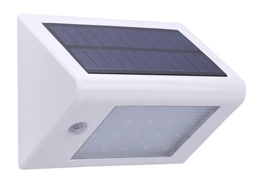350LM 20 LED PIR Motion Sensor solar garden wall lamps