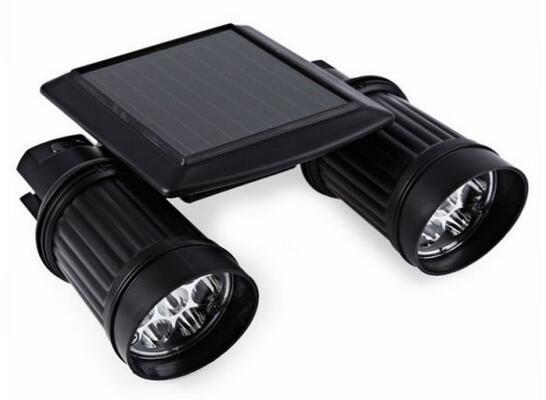 7X2 LED Dual Head PIR Motion Sensor solar lawn spotlights