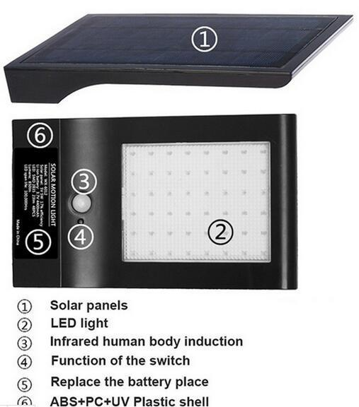 Outdoor Garden Yard solar wall lights b and q