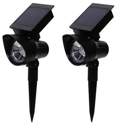 Full range adjustable solar led garden spotlights Outdoor Waterproof