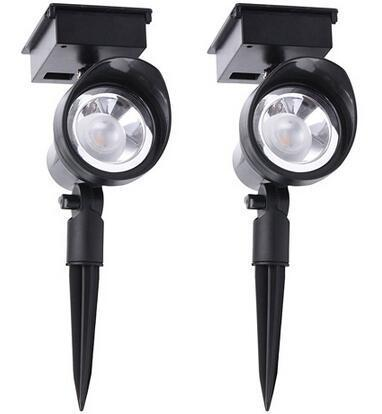 Full range adjustable solar led garden spotlights wholesale and distributor