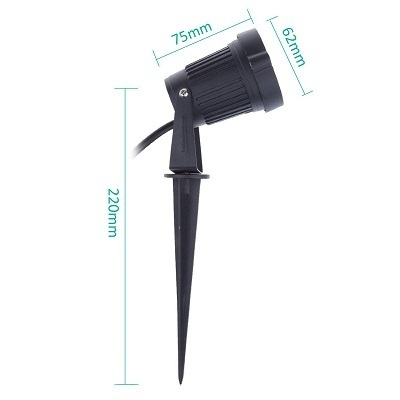 solar spotlights for yard diagram size