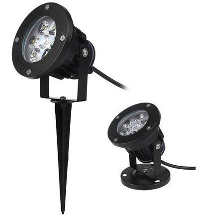 7x1W solar powered led spotlights outdoor for yard
