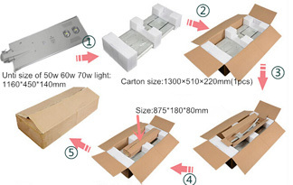 solar panel garden lights packing carton