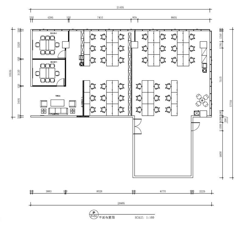 办公室综合布线方案办公室部分图纸
