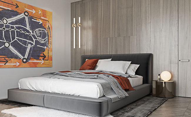 现代室内装修效果图-卧室