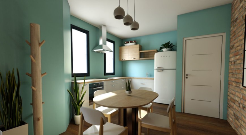 一室一厅混搭风格装修效果图——卧室装修效果图