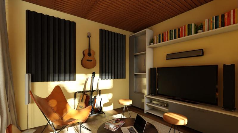 一室一厅混搭风格装修效果图——客厅隔断效果图