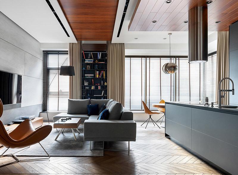 室内互补色方案的平衡