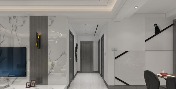 重庆装饰公司案例_110平米后现代风格装修效果图7.