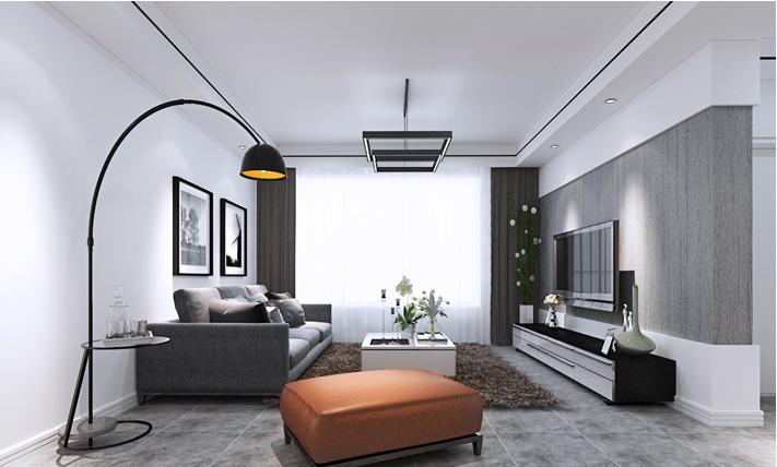 重庆家装公司案例_92平米现代风格装修效果图35.