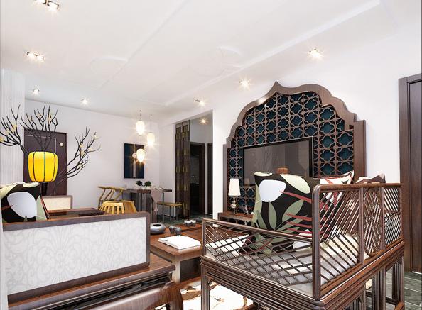 重庆装饰公司案例_山林雅苑东南亚风格装修效果图878.