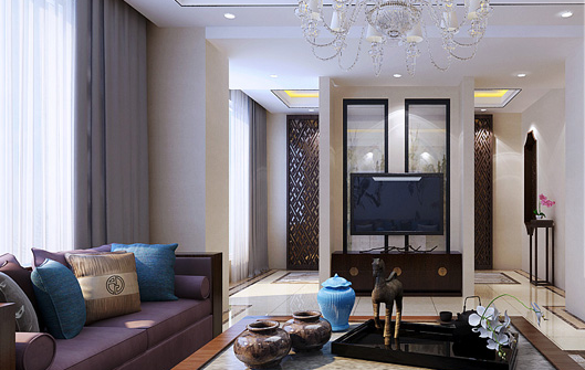 重庆装饰公司案例_200平米新中式风格装修效果图29.