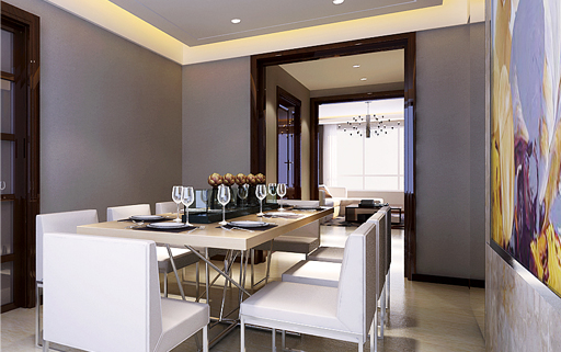 重庆旧房装修案例_177平米新中式风格装修效果图73.