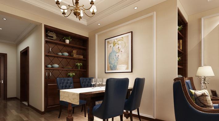 重庆旧房装修案例_118平米美式风格装修效果图92.