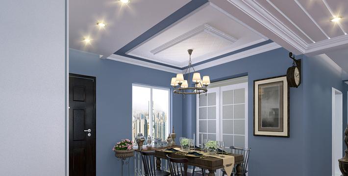 重庆旧房翻新案例_150平米美式风格装修效果图18.