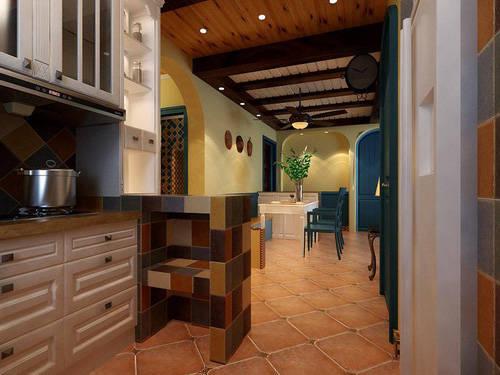 重庆新房装修案例_97平地中海风格装修效果图47