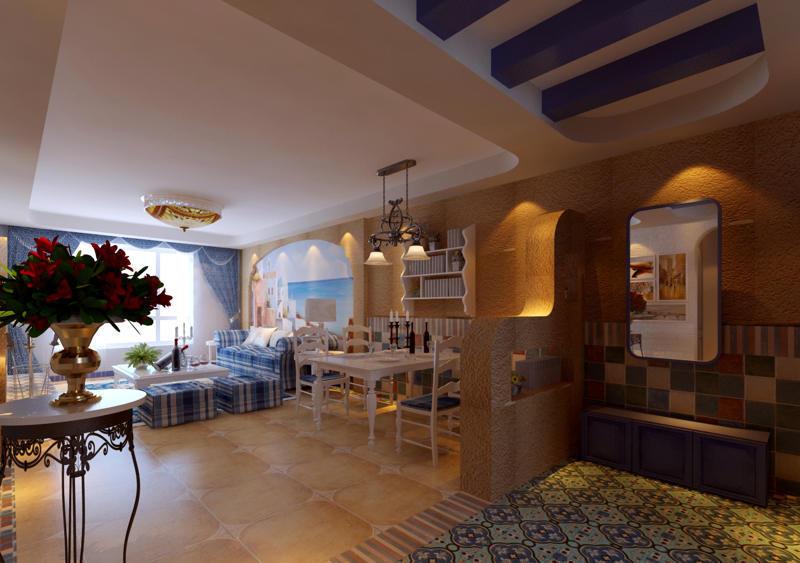 重庆新房装修案例_112平米地中海风格装修效果图39