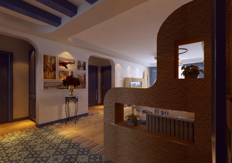 重庆新房装修案例_112平米地中海风格装修效果图51