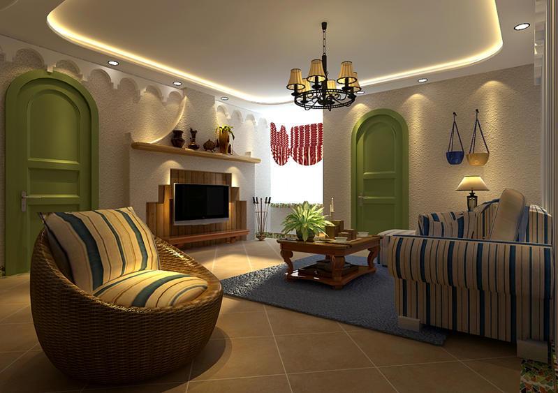 重庆新房装修案例_160平米地中海风格装修效果图94
