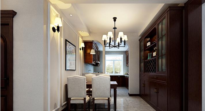 重庆新房装修案例_120平米美式风格装修效果图35.