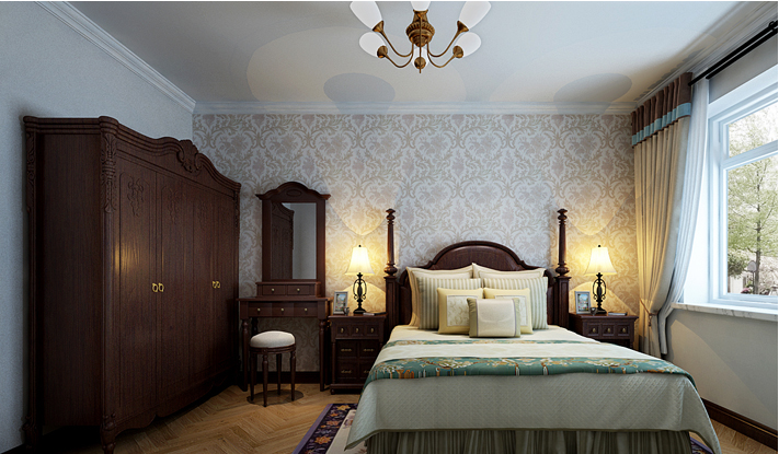 重庆新房装修案例_120平米美式风格装修效果图54.