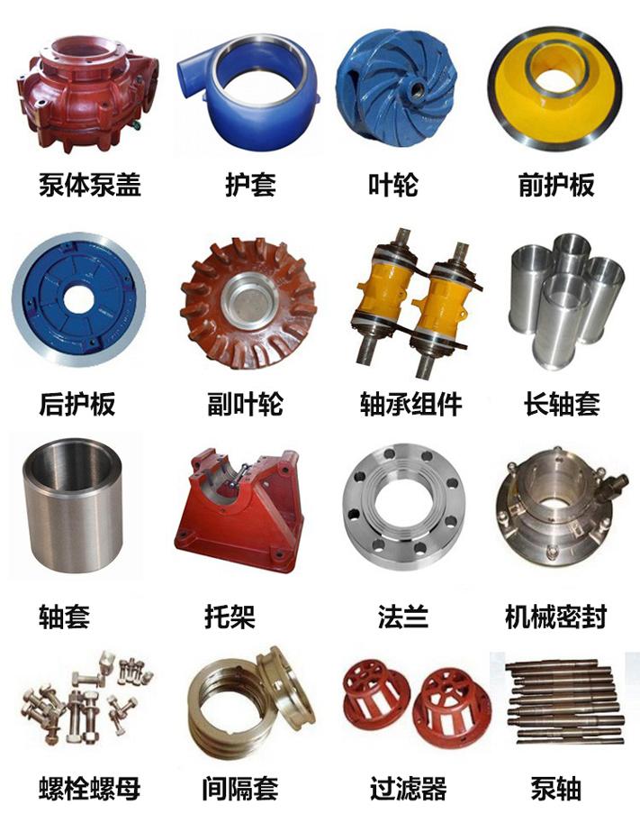 渣浆泵配件图