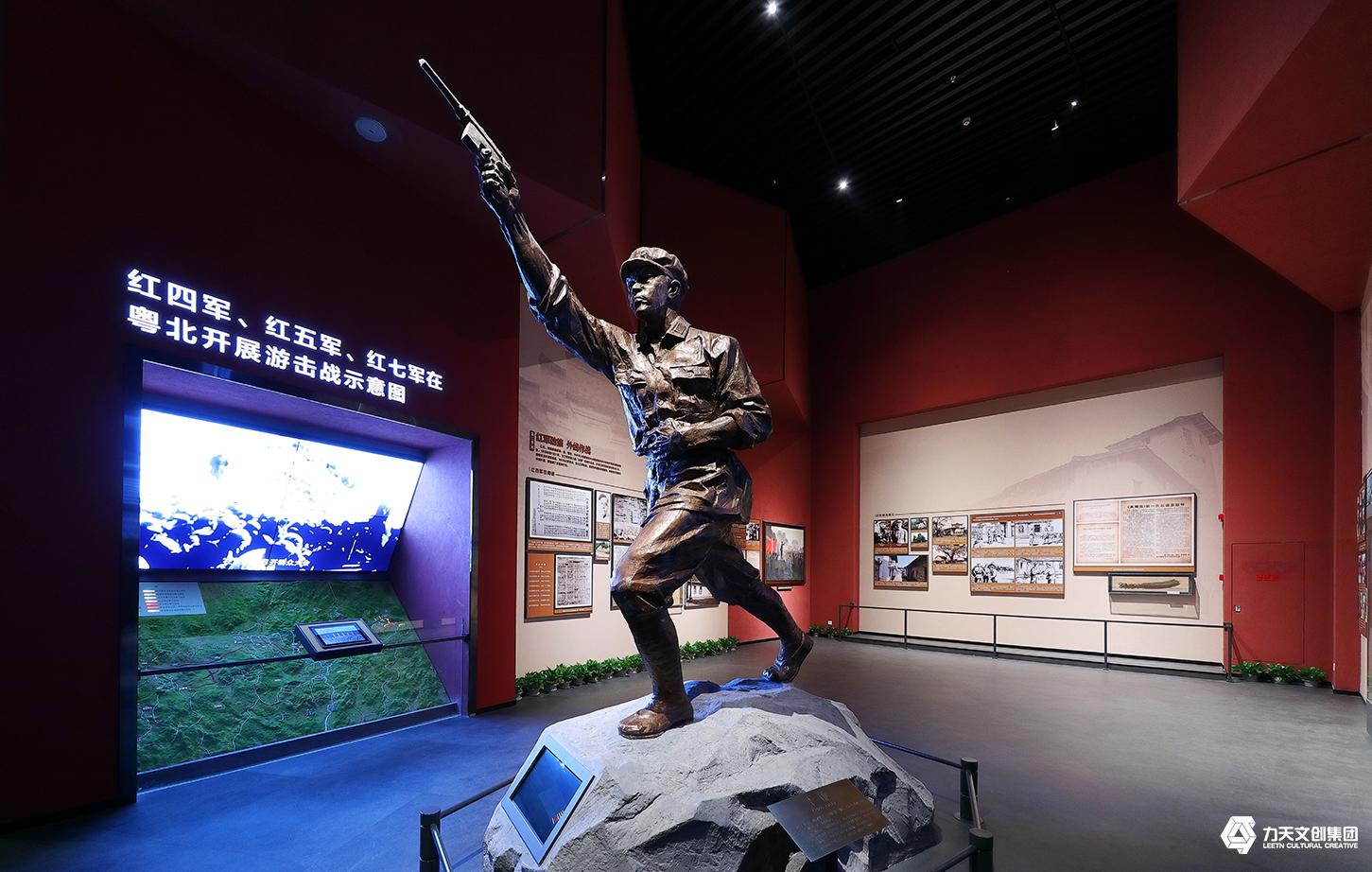 红军长征粤北纪念馆  广东唯一一个以纪念红军长征为主题的爱国主义教育基地  铜像雕塑造型  李谦铸铜雕塑