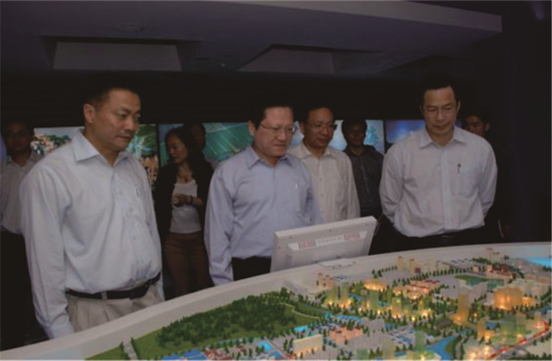 广东省人大常委副主任张广宁参观南沙经济社会发展展示馆