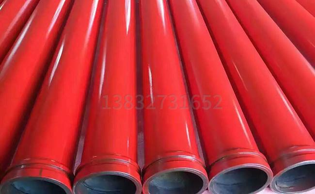 喷完漆的3米耐磨泵管