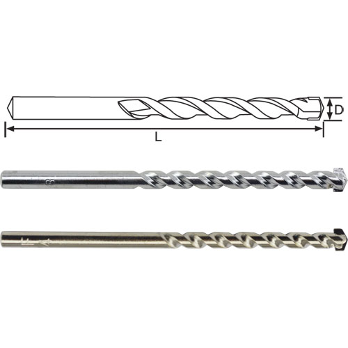 Round Shank Masonry Drill Bits, Roll Forged