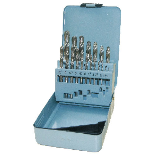 WD11192TI-19pcs half ground twist drill bits set