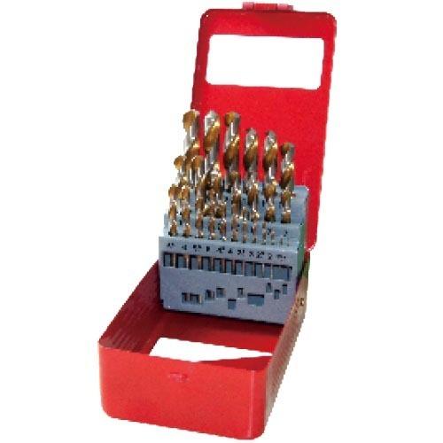 WD12251GB-25pcs fully ground twist drill bits set
