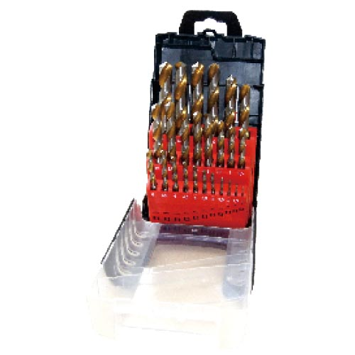 WD1225GB-25pcs fully ground twist drill bits set