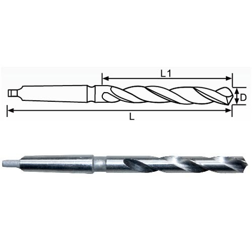 DIN 345 milled morse taper twist drill bits with bright surface